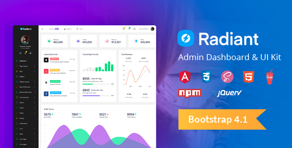 Radiant Admin Dashboard