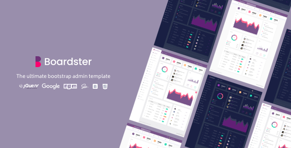 Boardster Admin Template