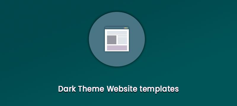 dark theme website templates
