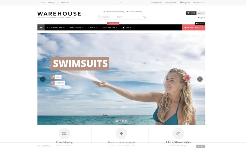 Best-Selling E-commerce Website Templates