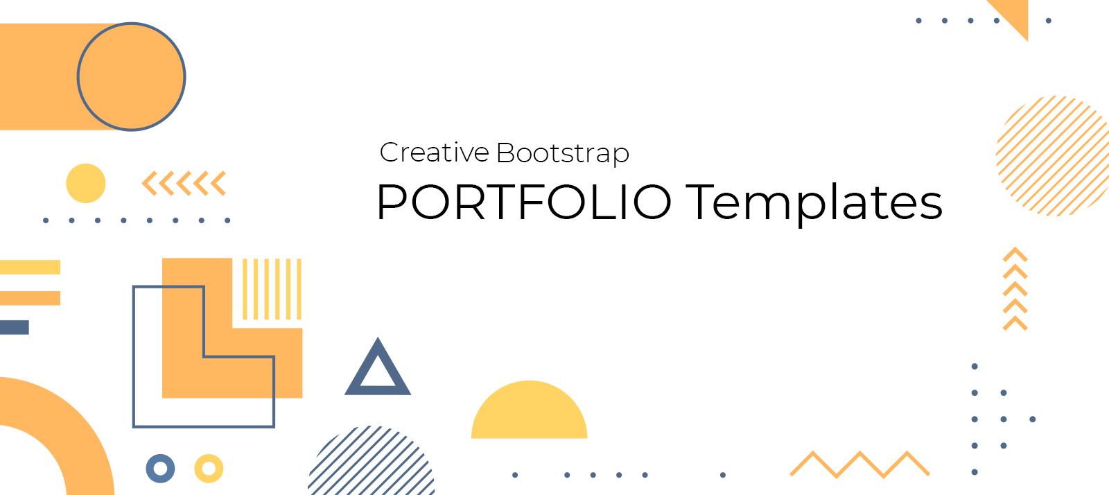 8+ Creative Bootstrap Portfolio Templates